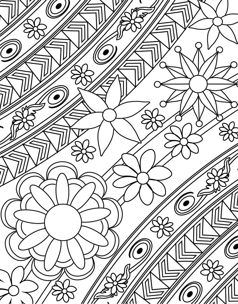 Zendoodle Coloring Big Picture Calming Gardens Tish Miller Macmillan In 2020 Geometric Coloring Pages Mandala Coloring Pages Pattern Coloring Pages