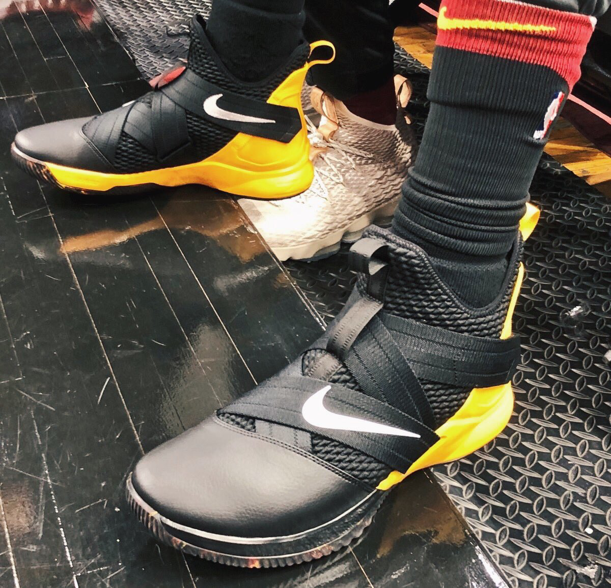 782649ad RealTristan13 debuts a new LeBron Soldier 12 colorway for Game 1 👀  #BRKicks 📸 by @NBA .