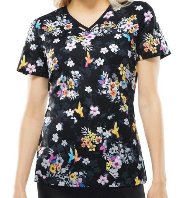 40203886302 Recent purchase- Runway by Cherokee V-neck scrub top in 'Paradise To Meet
