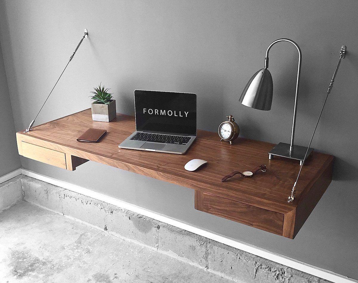 Floating Desk With Storage Floating Desk Desk Storage Wall Mounted Desk
