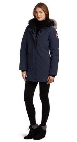 315 Canada Goose Victoria Parka Navy Women FREE SHIPPING WORLDWID ... 7112b511d7