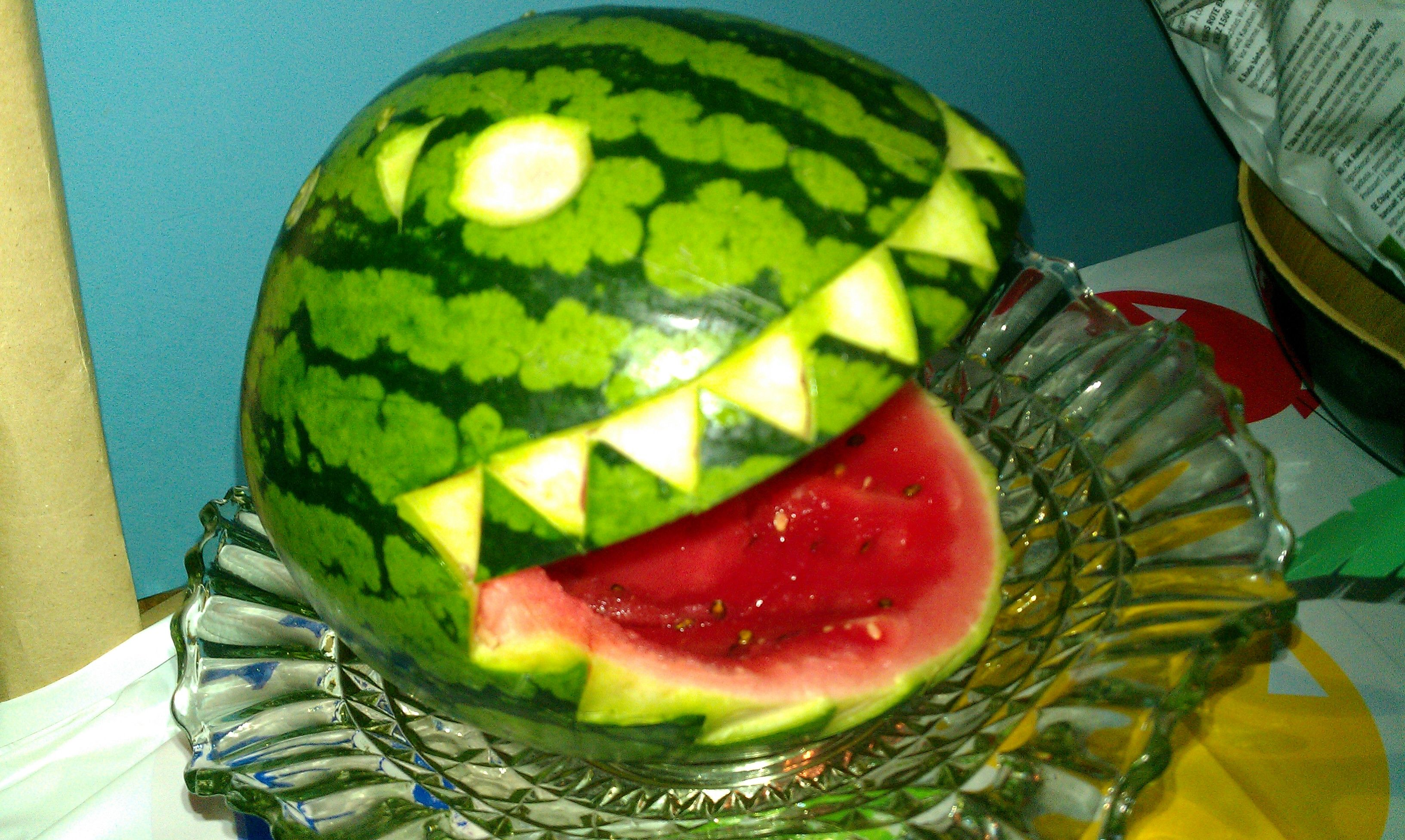 Dinosaur party watermelon