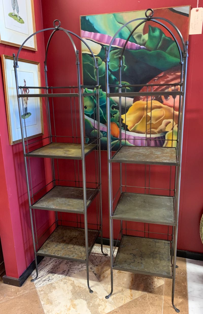 Monarch Bakers Rack Two Tall Etageres Display Stands Hand Made