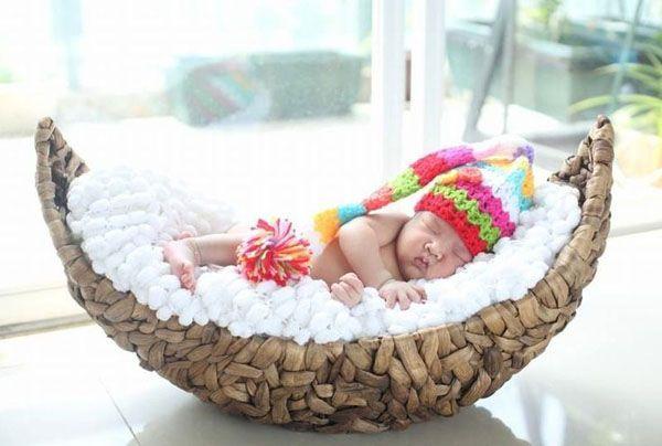 Baby Hat- Crochet Long Tail Elf Hat