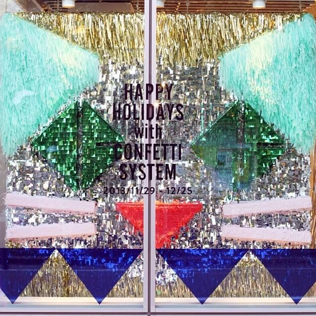 opening ceremony tokyo  christmas window installation by confetti system ♥