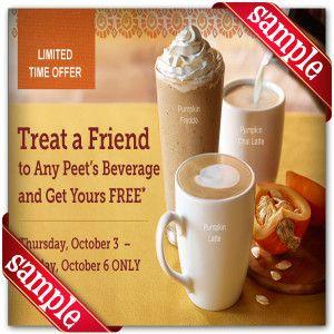 photograph regarding Peet Coffee Printable Coupon called Peets Espresso Tea Printable Coupon December 2016 Discount codes