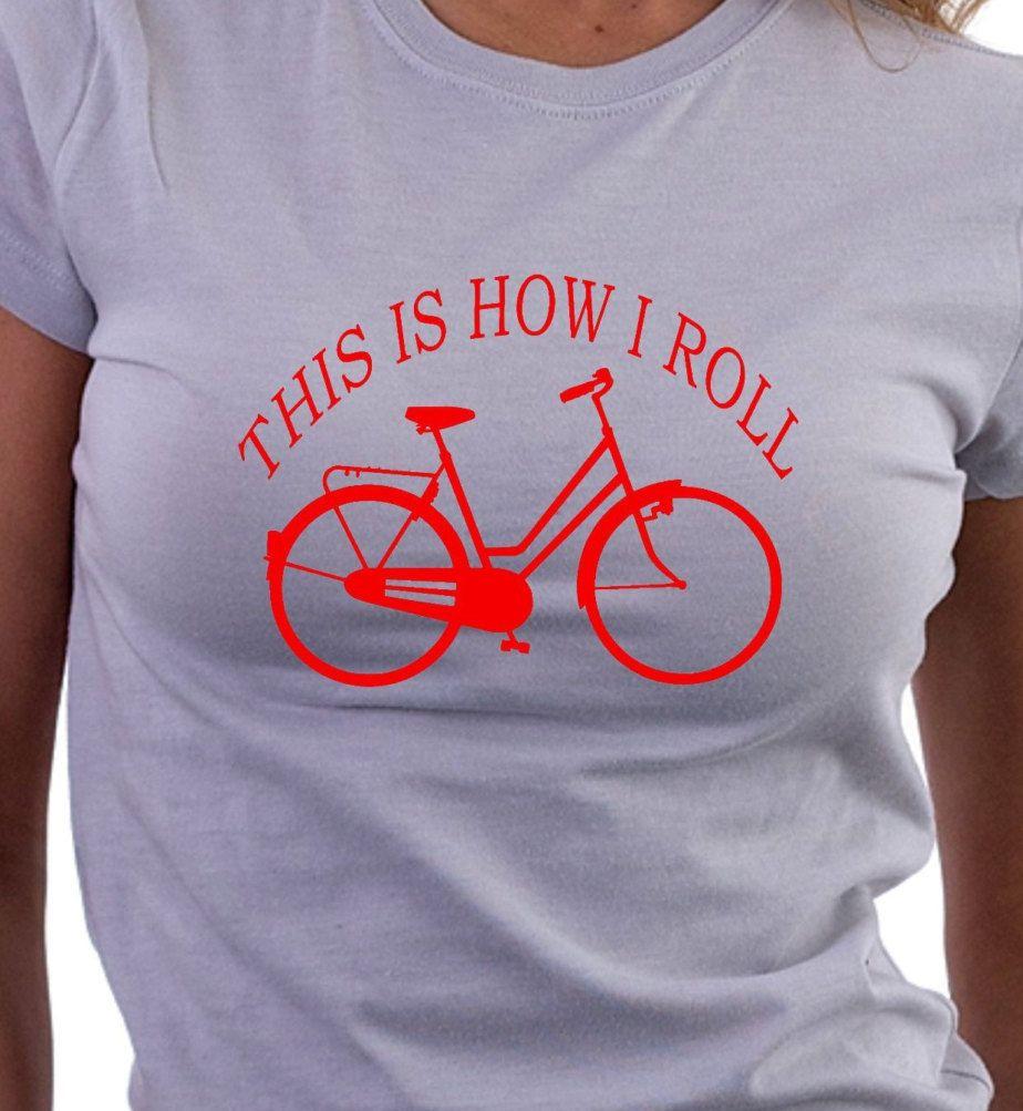 45be067b15cf Cyclists Funny T-shirt, Ladies Bicycle T-shirt, Cycling T-Shirt ...