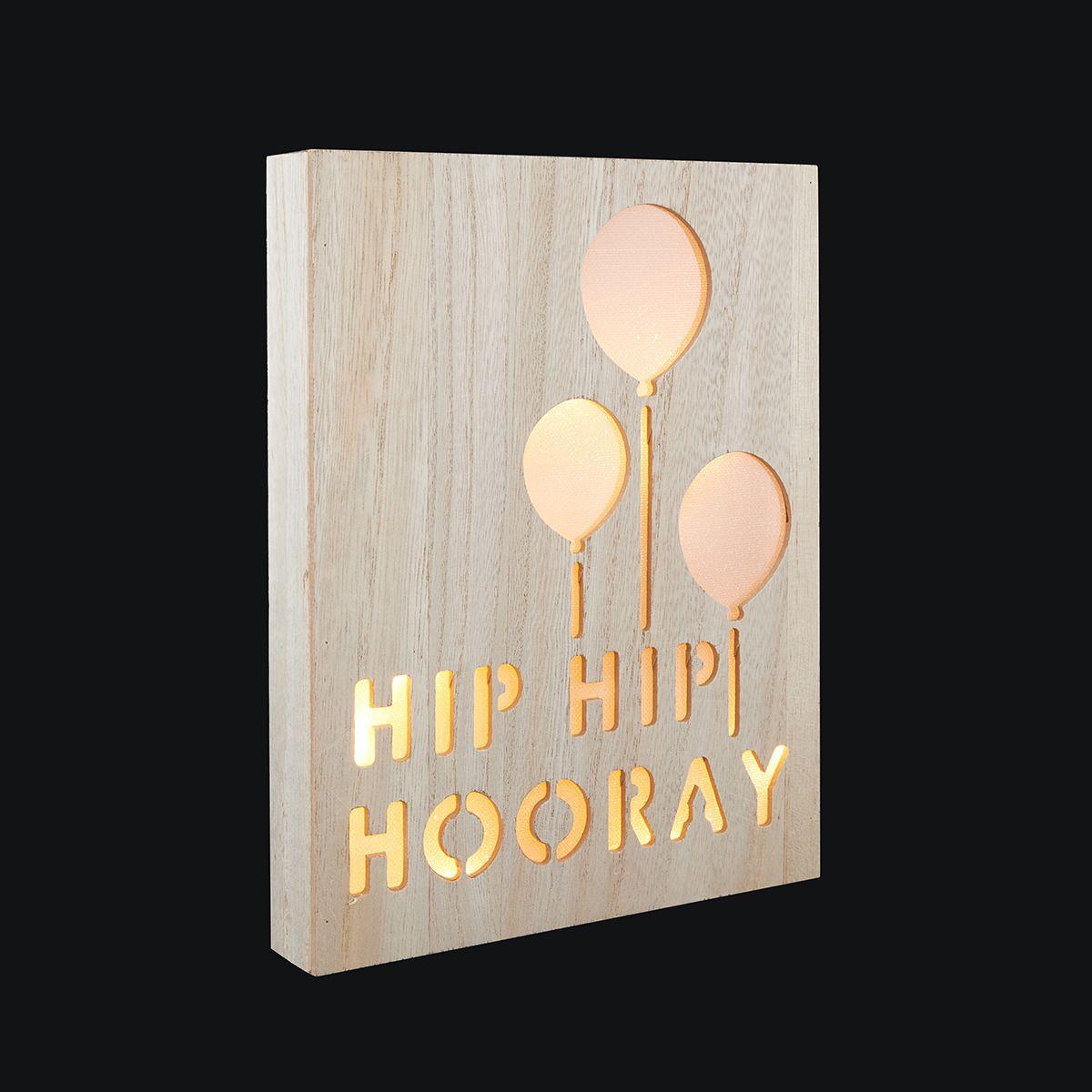 Hip Hip Hooray Light Box Kmart Sunshine first birthday