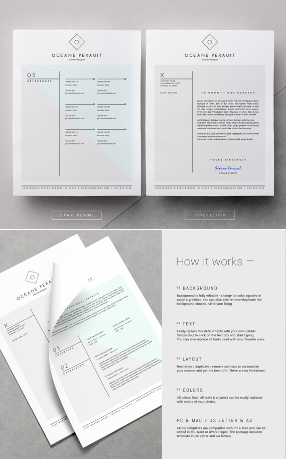 Resume Template  Pk Resume Template For Ms Word  Iwork Pages