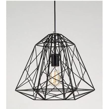 craft metal lighting. Craft Single Cage 1-Light Geometric Pendant (black) (Metal) Metal Lighting