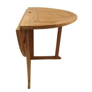 TABLE DE JARDIN Table pliante ronde en teck Diam 120 cm ...