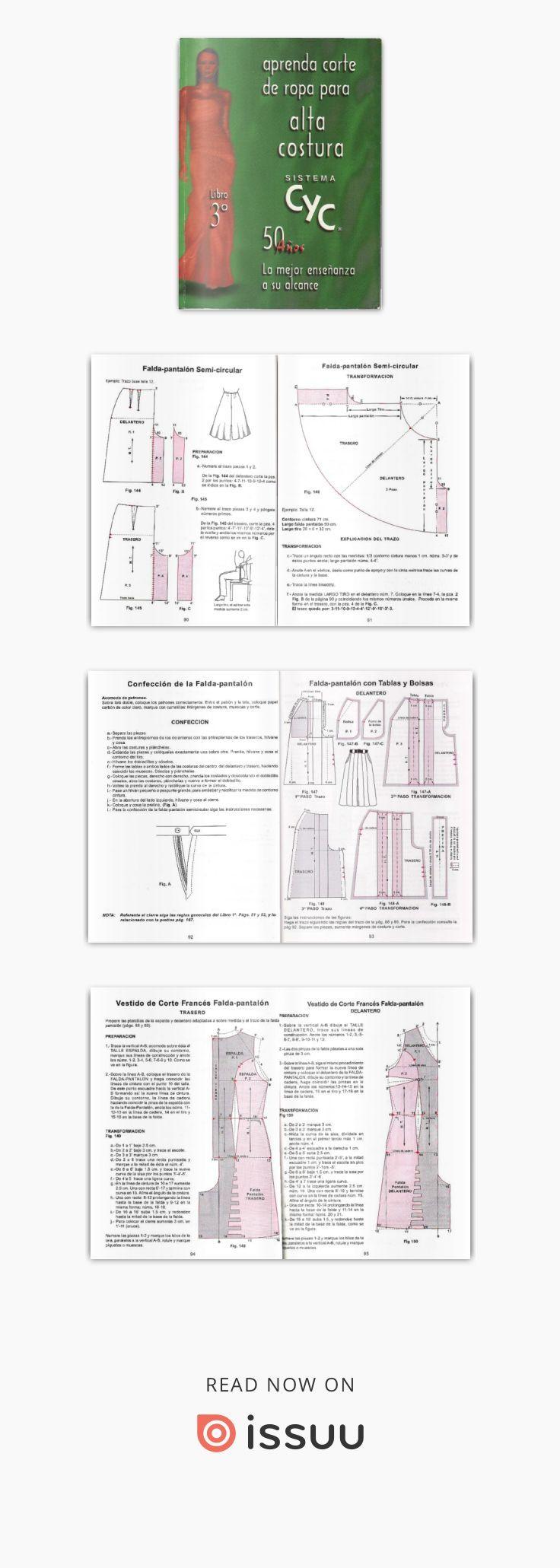 Corte de alta costura cyc | libro patron niños | Pinterest | Alto ...