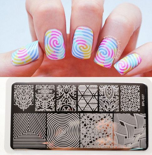 BORN PRETTY Illusion Theme Nail Art Stamping Stamp Template Vines Image Plate Manicure BP-L027