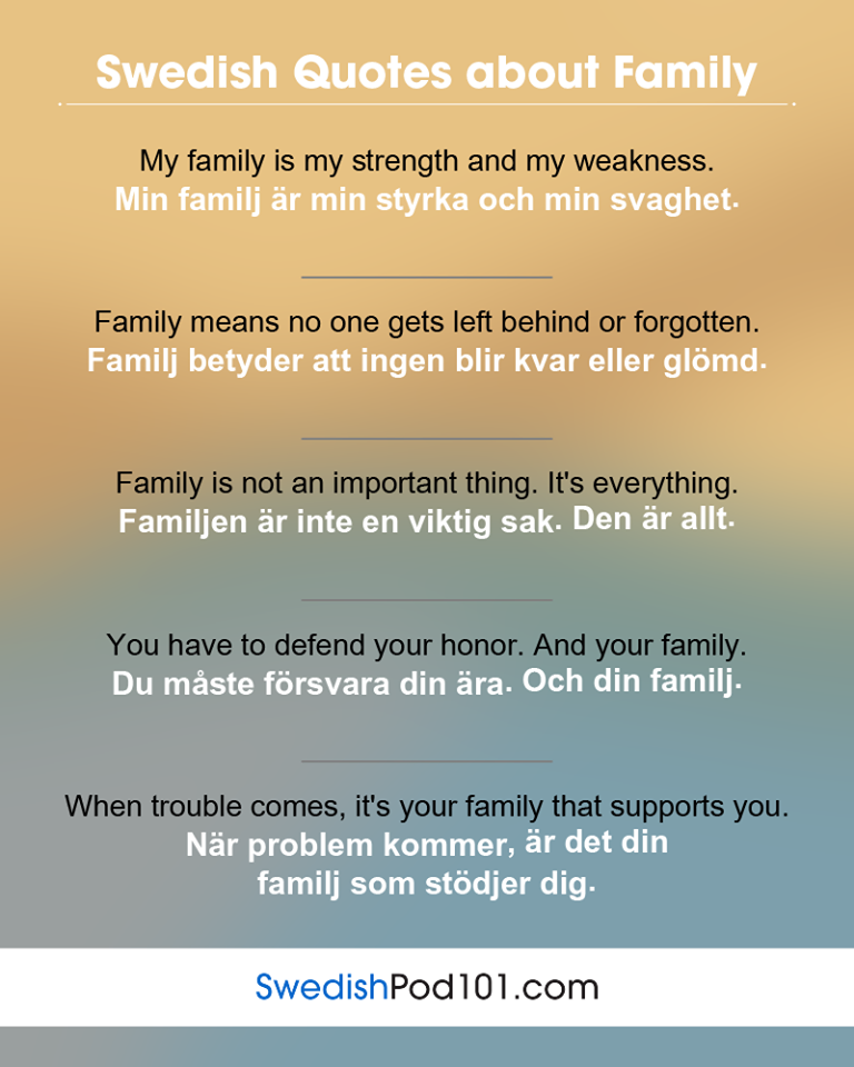 Swedish Quotes About Family Swedish Phrases In 2018 Swedish