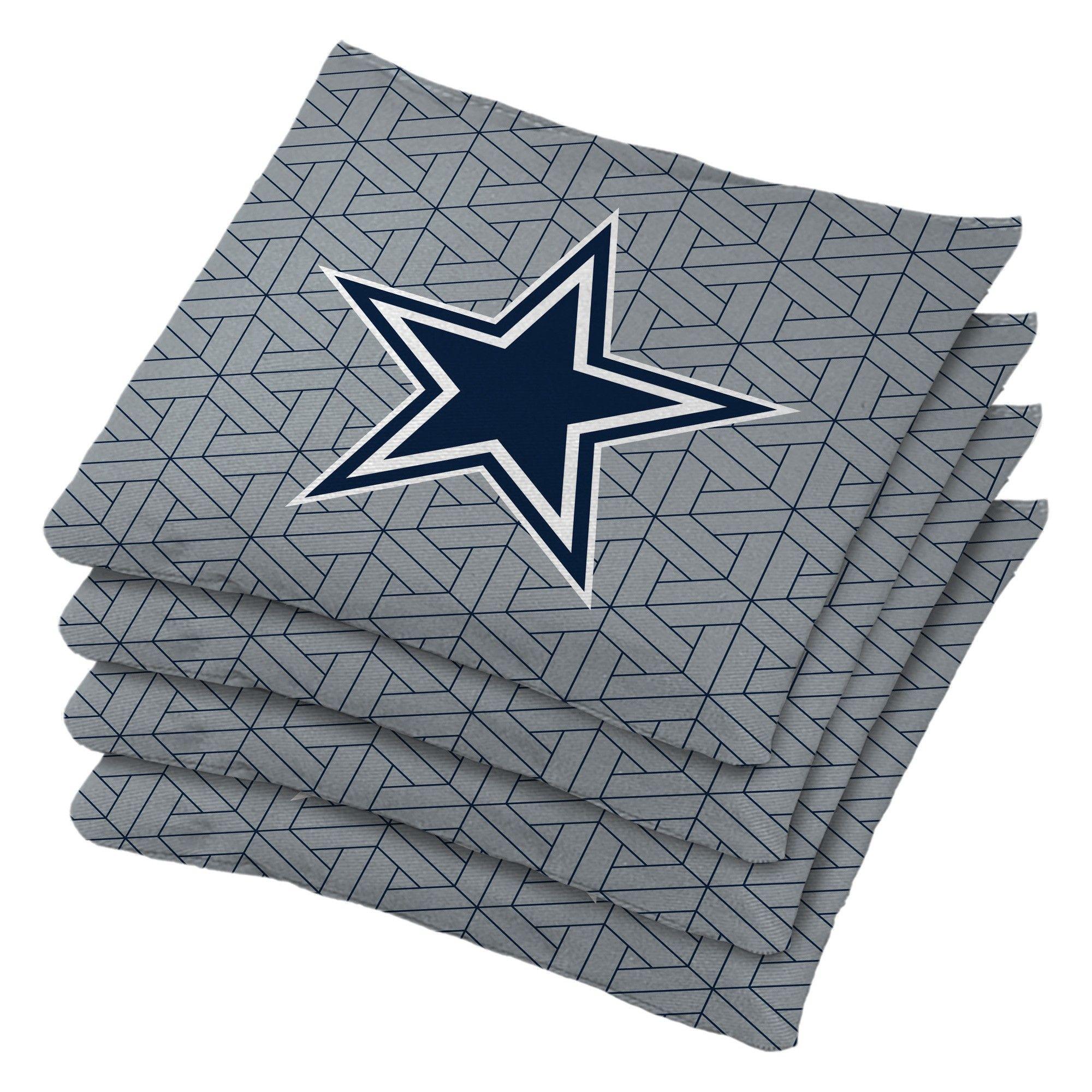 e3be1ff01 Dallas Cowboys 4pk Bean Bag Set - Gray