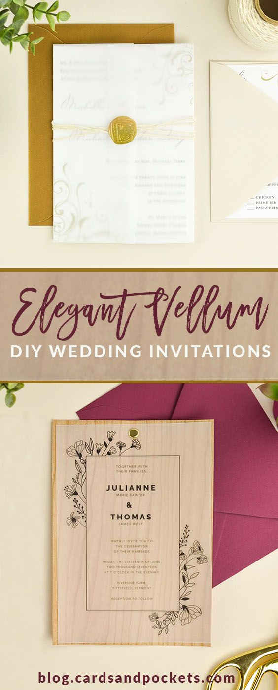 These ideas for elegant vellum wedding invitations