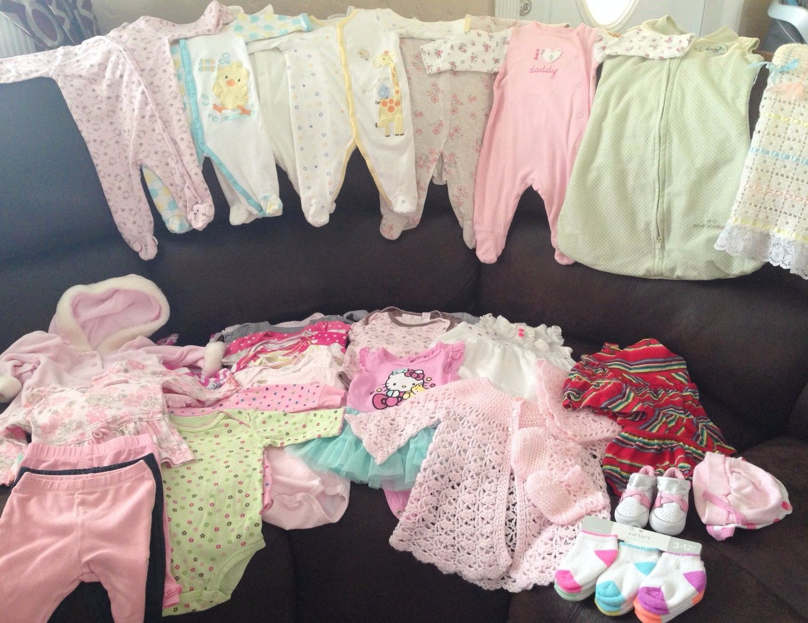 Nice BABY GIRL CLOTHES LOT size 0 3 MONTHS 2017 2018
