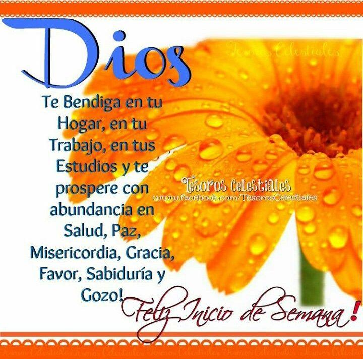 Feliz Inicio De Semana Dios Te Bendiga En Tu Hogar En Tu Trabajo