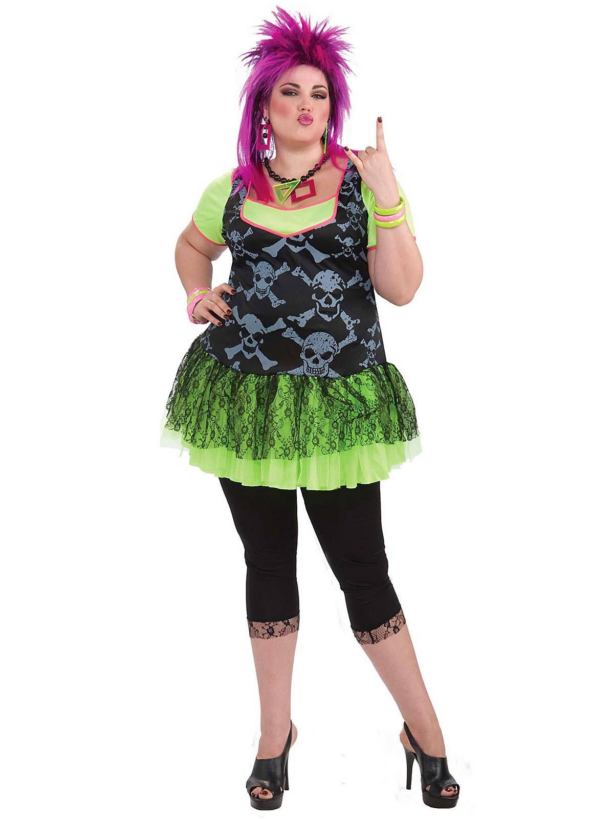 80u0027s Punk Lady Costume | Plus Size 80s Halloween Costumes  sc 1 st  Pinterest & 80u0027s Punk Lady Costume | Plus Size 80s Halloween Costumes ...