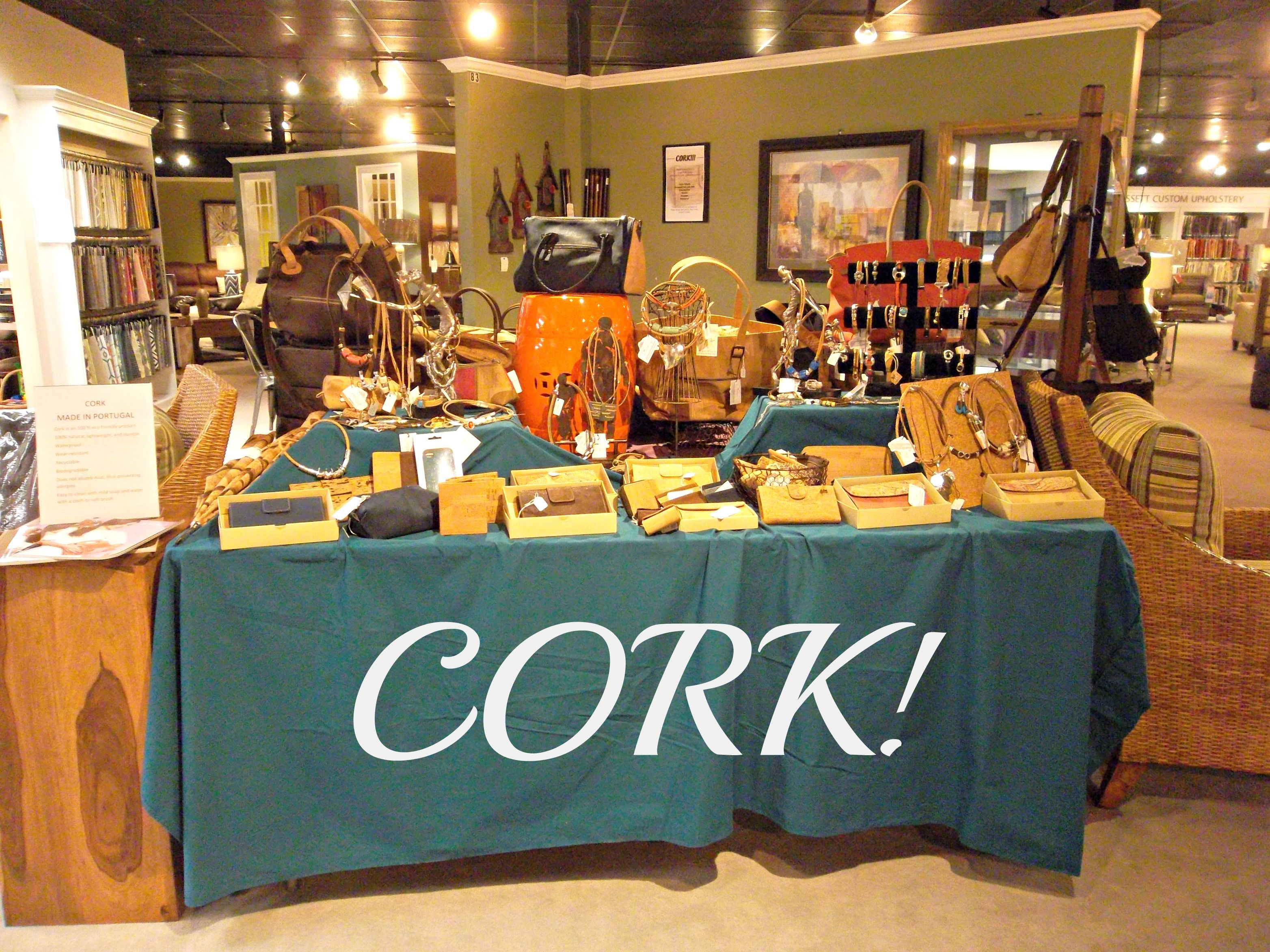 We Have Some Beautifully Crafted Cork Merchandise Here At Regal House Furniture From Handbags And Coin Purses To Necklaces Bracelets Even Iphone