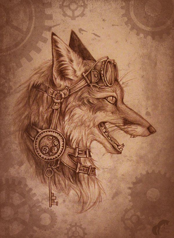Steampunk-fox by GreenAmb.deviantart.com on @deviantART ...