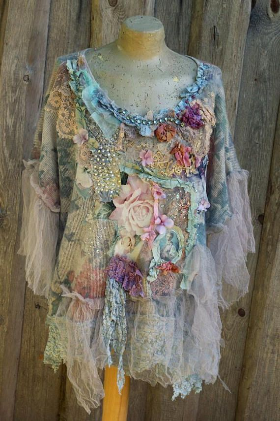 Rococo shades tunic robe L-XXL sz wearable art hand | model ...