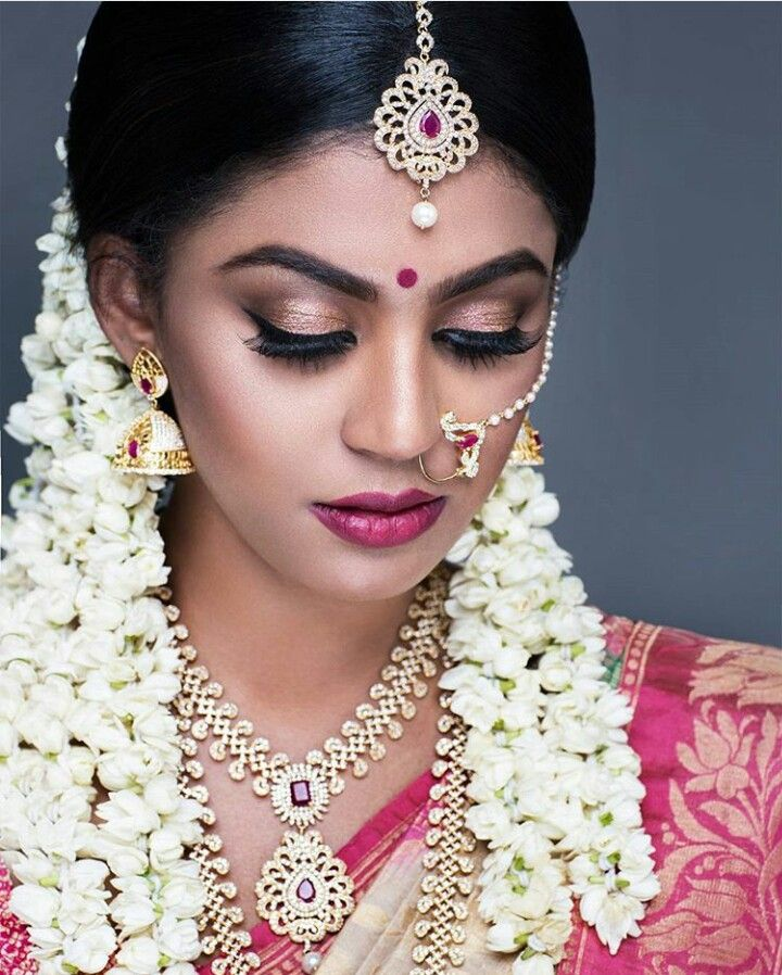 indian wedding hairstyle gallery%0A Bridal Makeover  Wedding Make Up  Wedding Goals  Wedding Bride  Indian  Bridal Hairstyles  Bride Portrait  Portrait Photo  South Indian Bride   South Indian