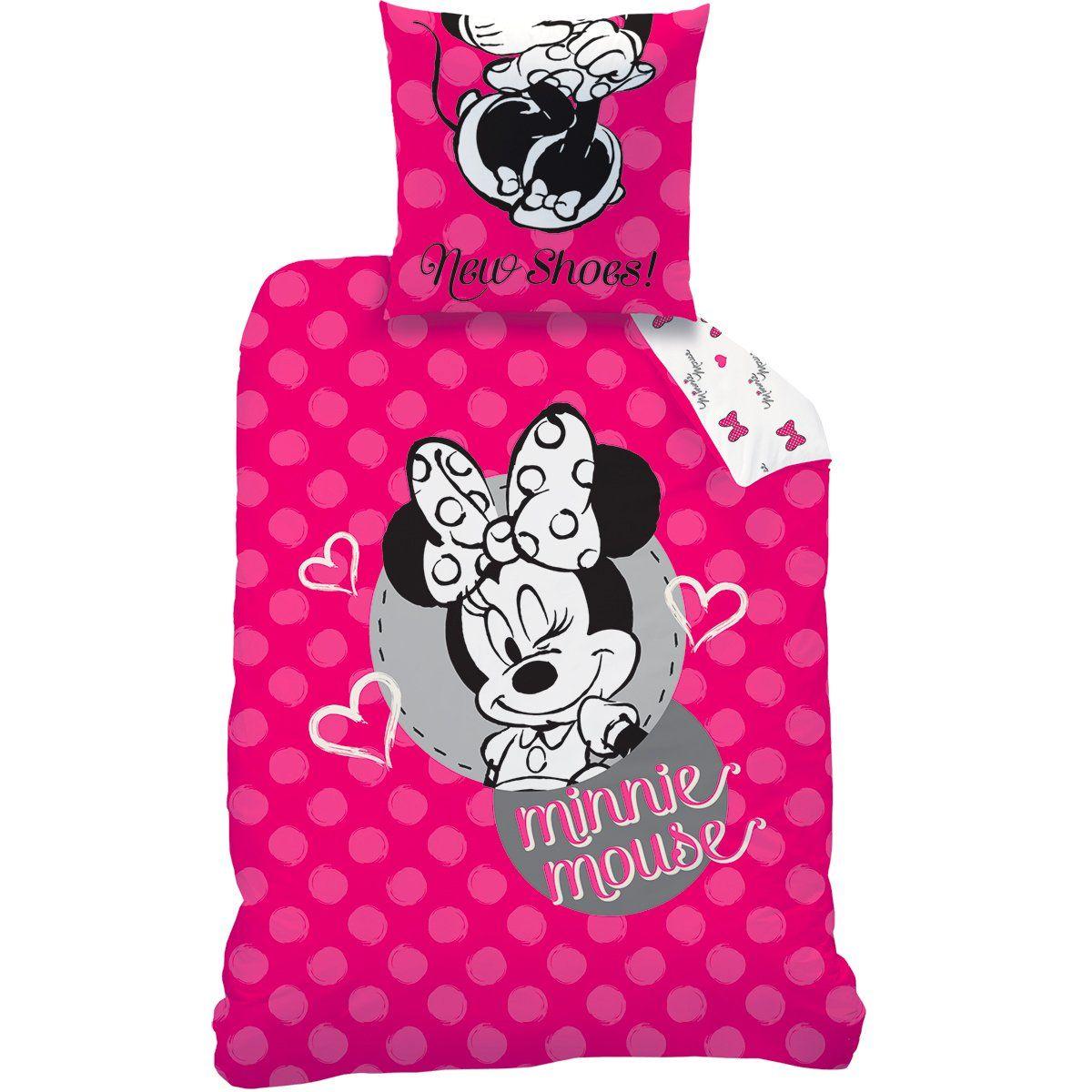 Disney Minnie 044851 New Shoes Rosa Bettwasche Baumwolle