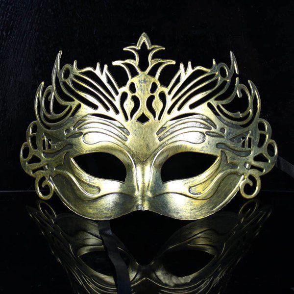 Vénitien Romain Guerrier Masquerade Fête Masque Pour Hommes-Noir Or Argent