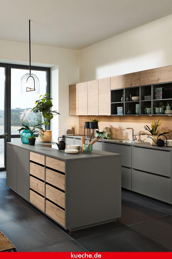 Mattes Grau gekonnt kombinieren  Küchen ideen modern, Wohnung