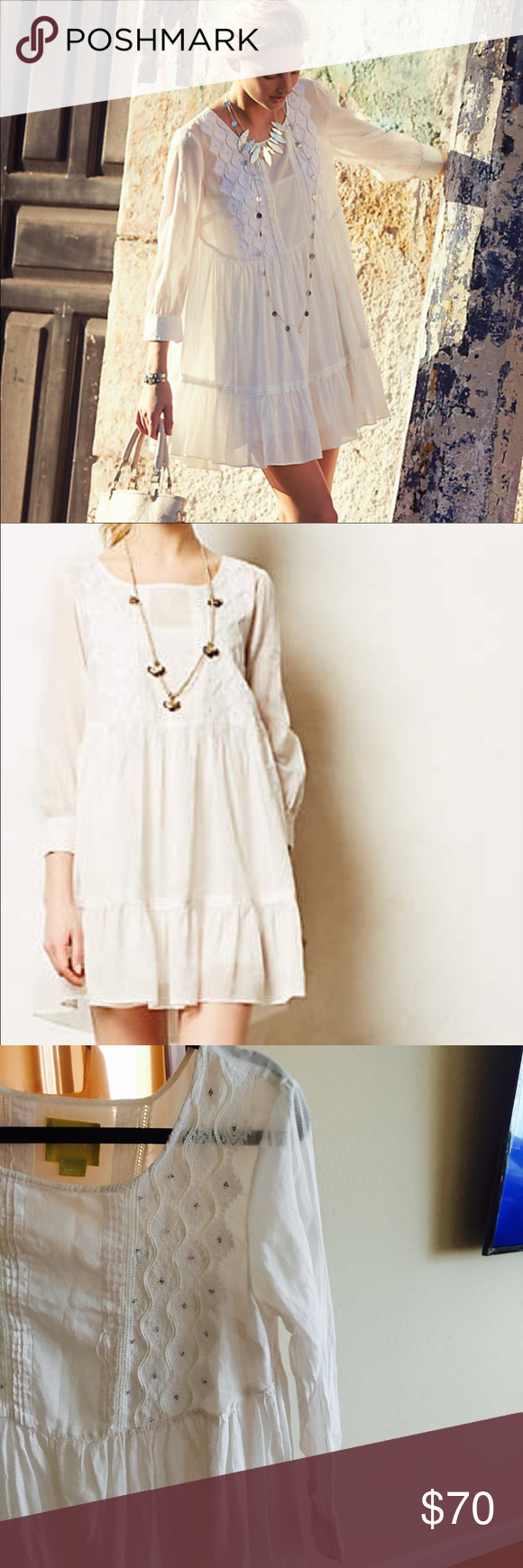 fa307f4f9cde0 Anthropologie Bermeja Tunic Dress Spring's free spirit calls for pieces  that are equally inspiring - a
