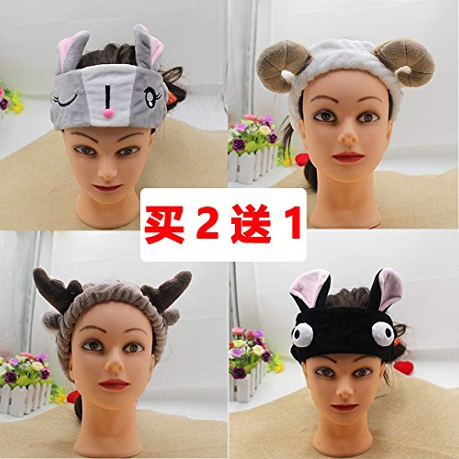 South Korean hair accessories hair band cute face female horn