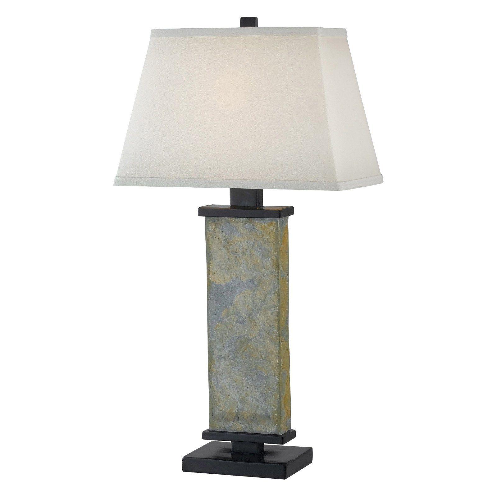 Kenroy Home Hanover Table Lamp Natural Slate Natural Table