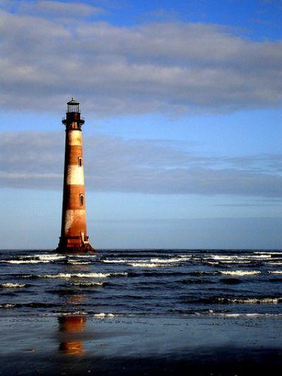 Morris Island Lighthouse, Charleston Harbor, SC
