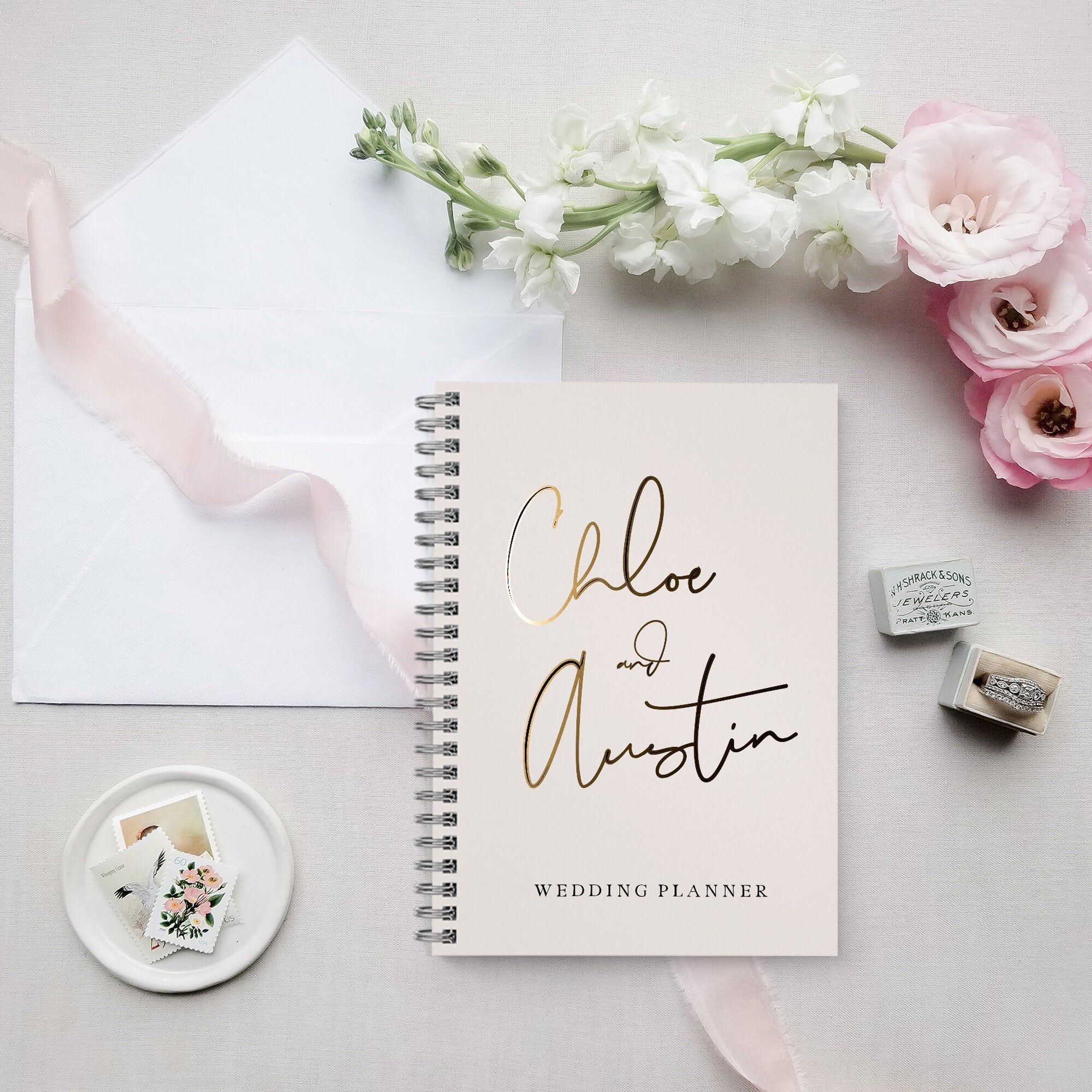 Blush Watercolor Wedding Planner Book Custom Wedding Planner | Etsy | Personalized wedding ...