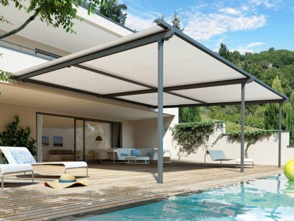 sonnenschutz garten terrasse-ideen | draußen | pinterest ... - Ideen Gartenterrasse