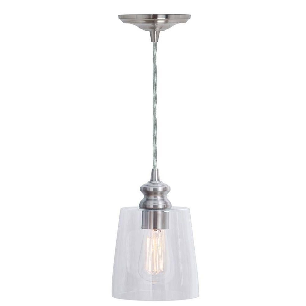 Home Depot Pendant Lights For Kitchen Home Decorators Collection Malley 1Light Brushed Nickel Hardwire