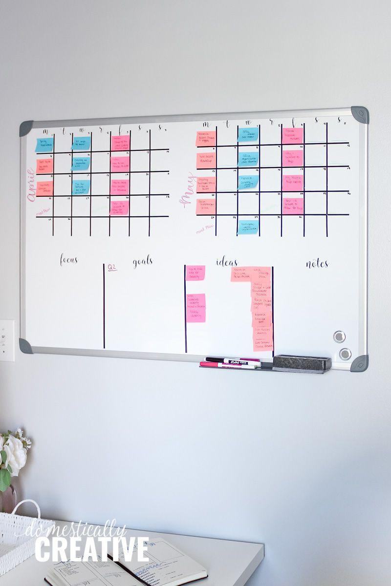Diy Whiteboard Calendar And Planner Diy Calendar Dry Erase Diy