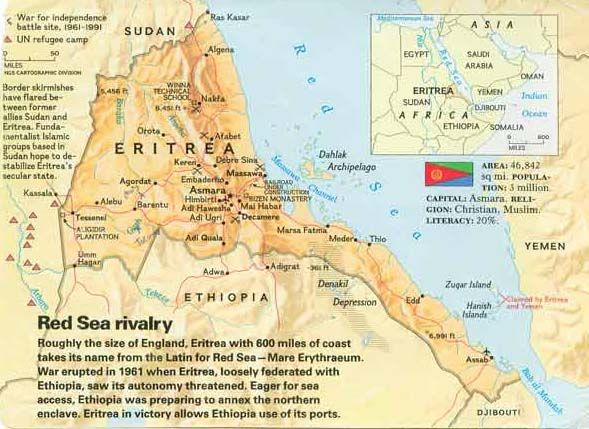 eritrea map Google Search Maps of Ethiopia Pinterest