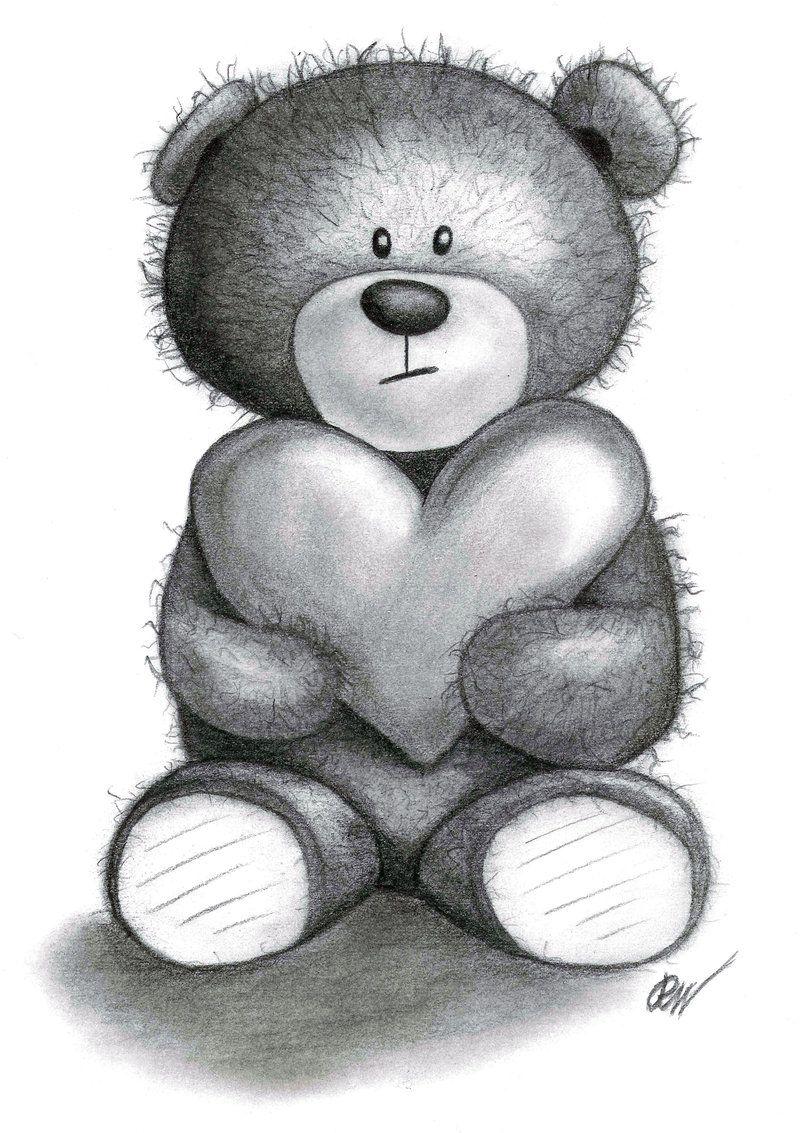 Uncategorized Drawing Of Teddy Bears teddy bear drawings traditional art portraits 2 by