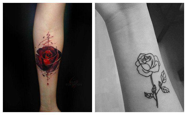 Tatuajes De Rosas Minimalistas Tt Pinterest Tattoos Cool