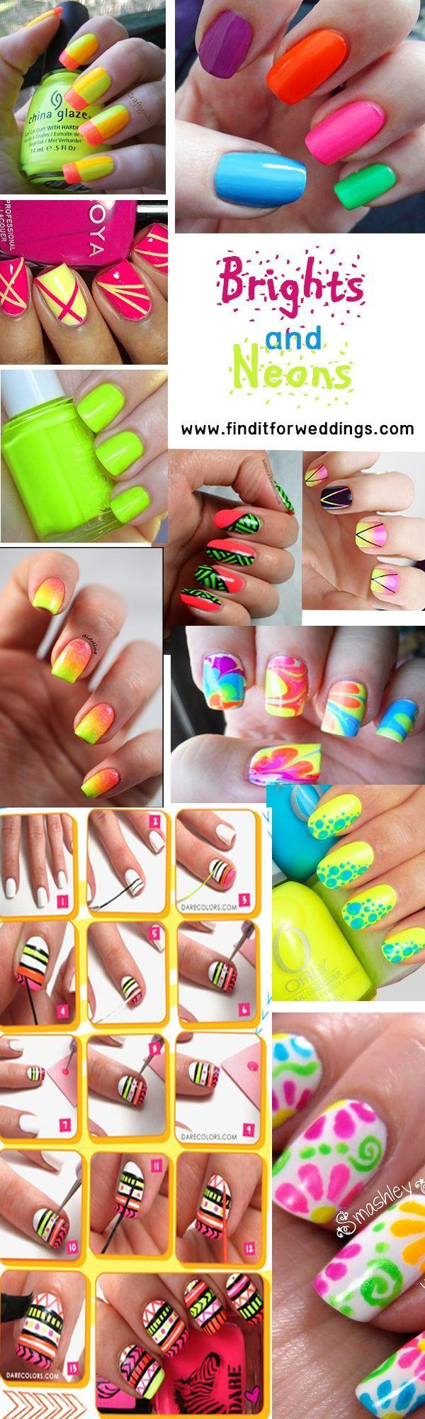 manicure - Neon #nails nail art design ideas Visit www.finditforwedd ...
