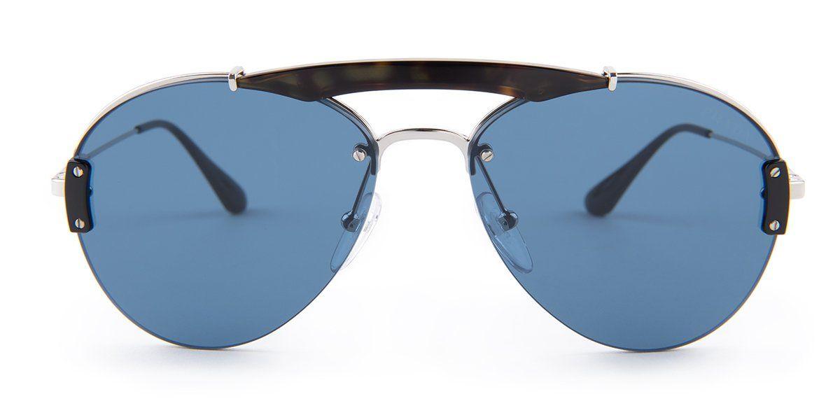 33b73460d4 Prada SPR62U Havana   Silver   Blue Lens Sunglasses – shadesdaddy