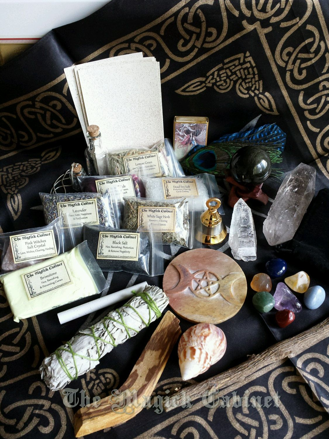NEW! Traveling Wiccan Altar Kit, White Witches Altar Kit, Smoke ...