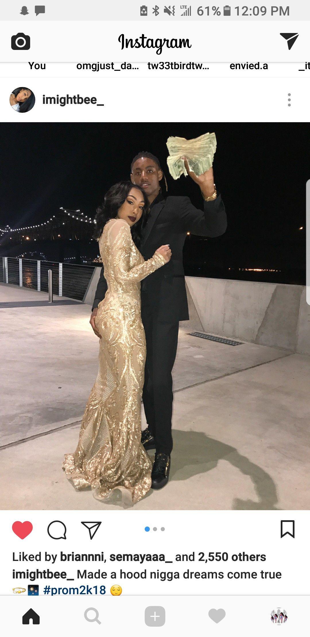 Gold prom dress black girl promuwedding in pinterest prom