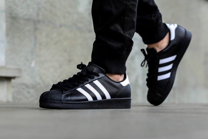 High fashion Adidas Superstar 1 Heren Black White Foundation