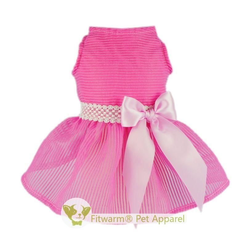 Fitwarm Party Princess Dog Dress Wedding Pet Clothes Lace Tutu Dress ...