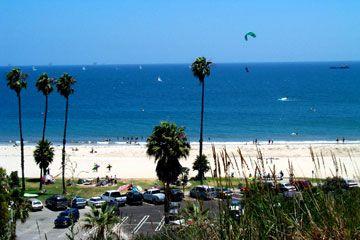 West Beach In Santa Barbara Is Located Between The Wharf And Marina