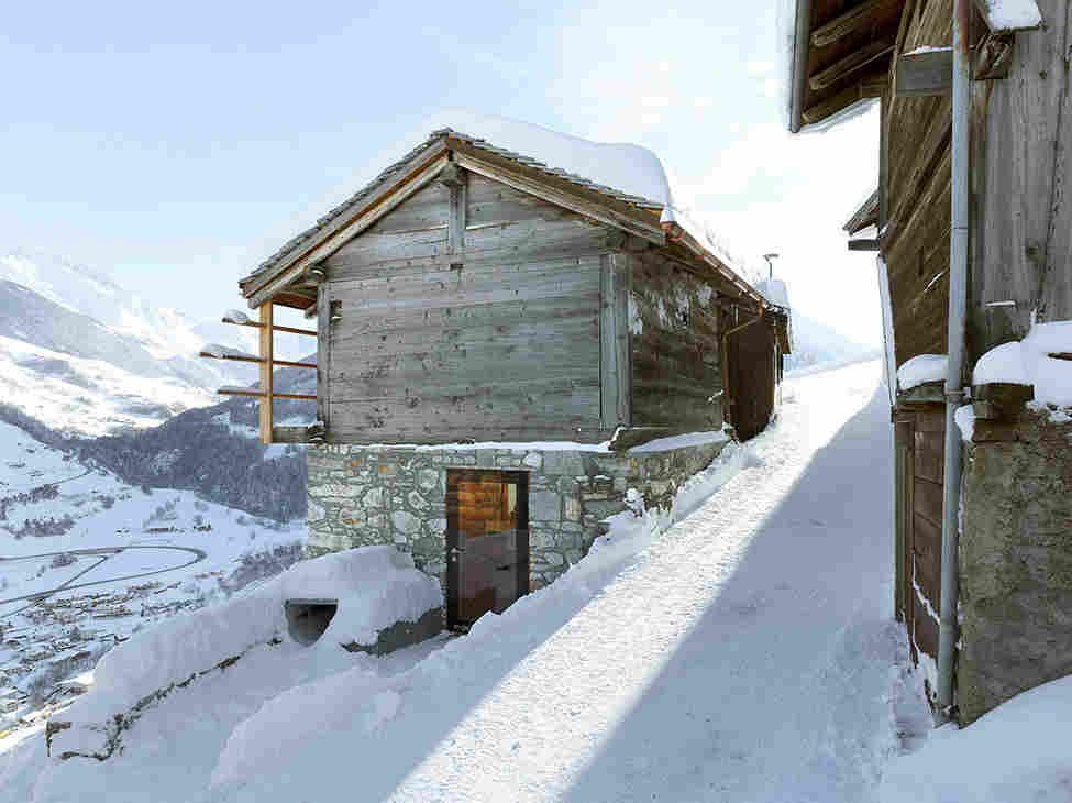 домик в швейцарских альпах