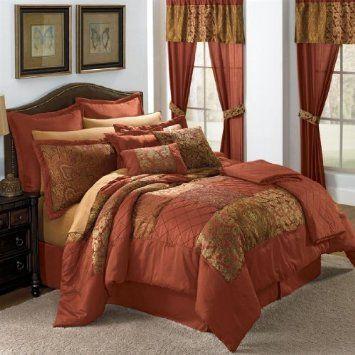 Bedding Sets Master Bedroom Comforter, Brown Rust Colored Bedding
